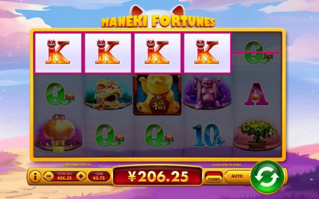 Maneki Fortunes :: A winning Four of a Kind