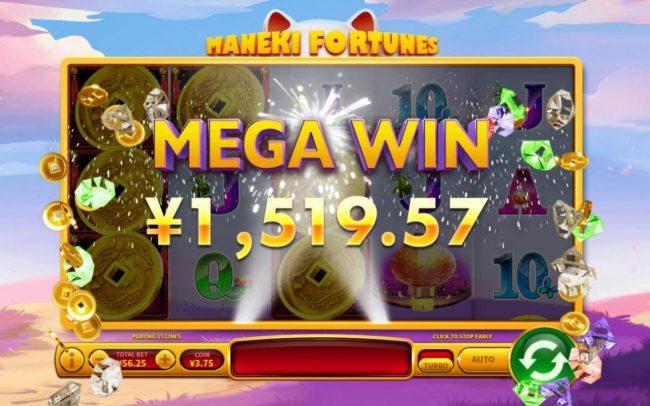 Maneki Fortunes :: A Mega Win Awarded