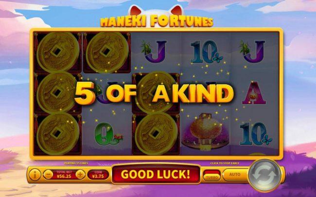Maneki Fortunes :: A winning Five of a Kind