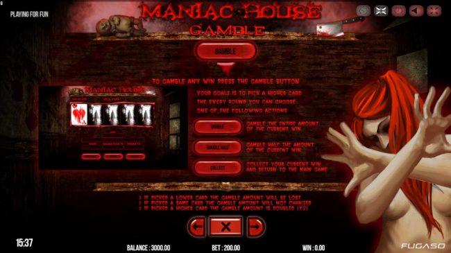 Maniac Club :: Gamble Feature Rules