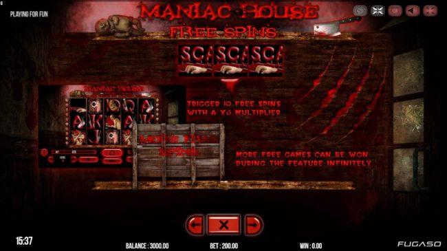 Maniac Club :: Free Spins Rules