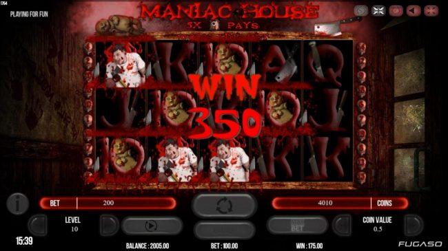 Maniac Club :: A 350 coin payout