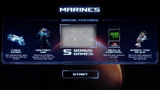 special features - 5 bonus games