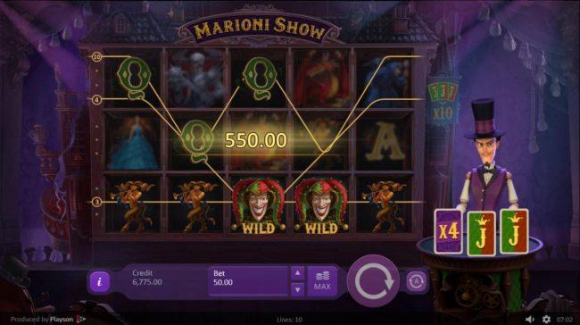 Marioni Show :: Croupier deals an X4 multiplier.