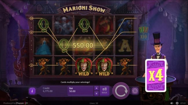Marioni Show :: X4 multiplier will be applied to the current winnings