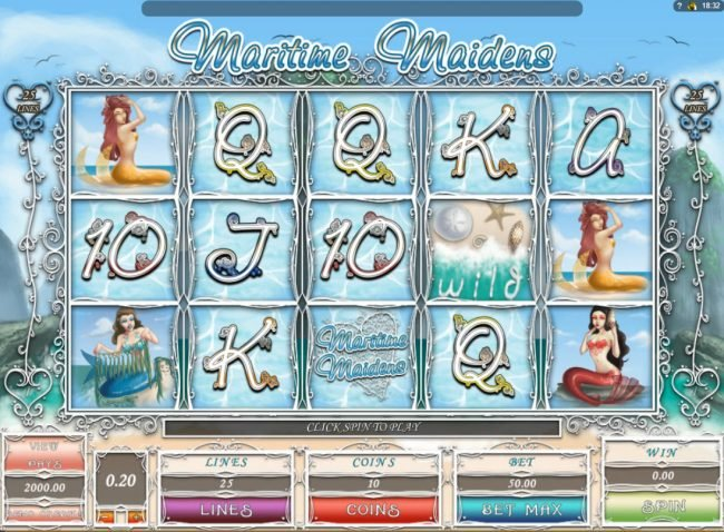 Play slots at 7Sultans: 7Sultans featuring the Video Slots Maritime Maidens with a maximum payout of $1,000