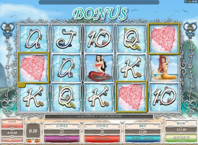 Play Million featuring the Video Slots Maritime Maidens with a maximum payout of $1,000