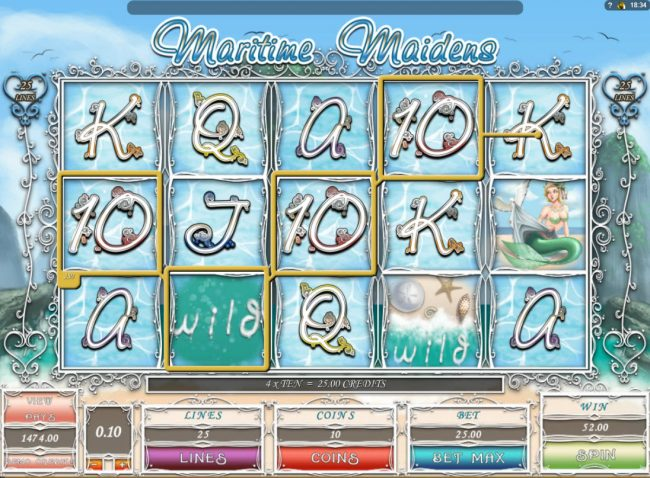 La Vida featuring the Video Slots Maritime Maidens with a maximum payout of $1,000