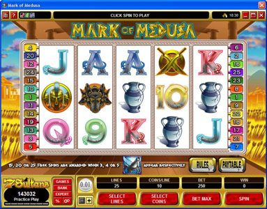 Play slots at Casino Extra: Casino Extra featuring the Video Slots Mark of Medusa with a maximum payout of $50,000