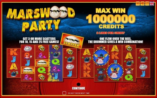 Play slots at X-Bet: X-Bet featuring the Video Slots Marswood Party with a maximum payout of Jackpot