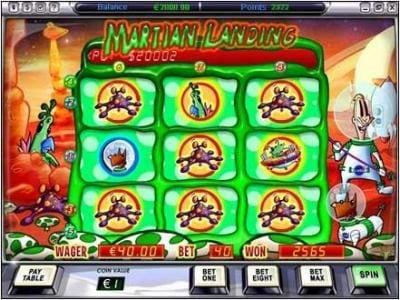 Play slots at Video Poker Classic: Video Poker Classic featuring the Video Slots Martian Landing with a maximum payout of $5,000