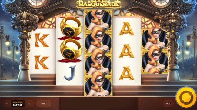 Casino Pop featuring the Video Slots Masquerade with a maximum payout of $250,000