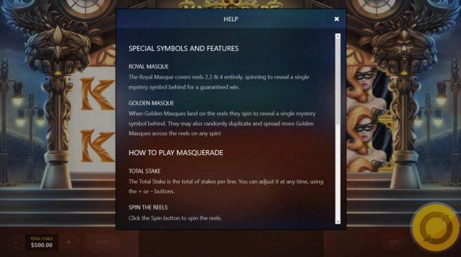 Masquerade :: General Game Rules