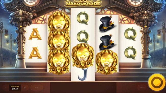 Masquerade :: Golden Masques reveal a mystery symbol