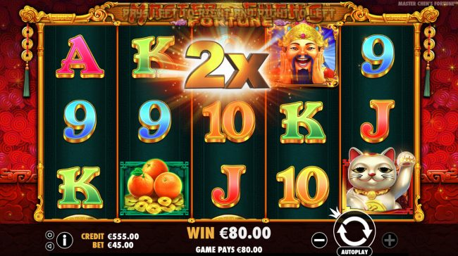 emu Casino featuring the Video Slots Master Chens Fortune with a maximum payout of $475,000