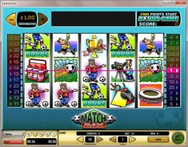 Play slots at Chomp: Chomp featuring the Video Slots Match Day with a maximum payout of $100,000