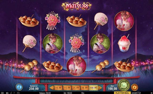 Yako Casino featuring the Video Slots Matsuri with a maximum payout of $300,000