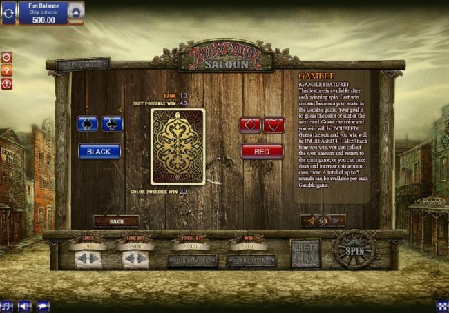1BET featuring the Video Slots Maverick Saloon with a maximum payout of $9,000