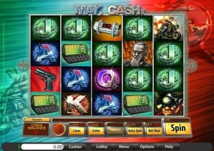 Jackpot Wheel featuring the Video Slots Max Cash with a maximum payout of 50,000x