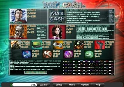 Lotus Asia featuring the Video Slots Max Cash with a maximum payout of 50,000x