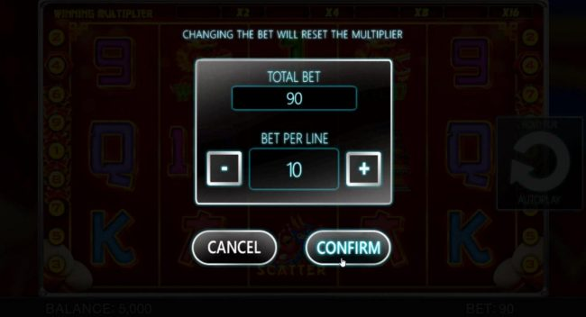 May Dance Festival :: The bet range for this game is 0.01 up to 10.00 per line.