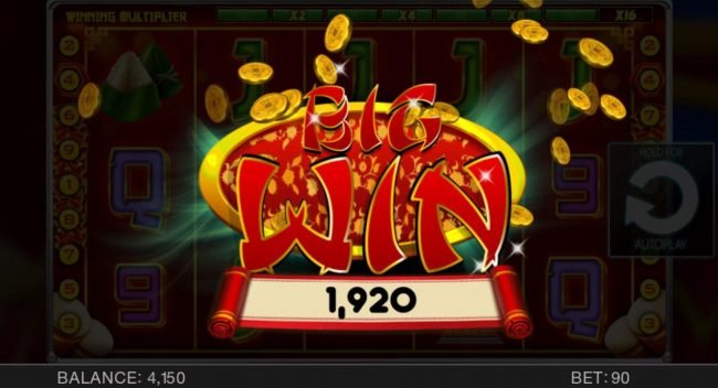 May Dance Festival :: Game pays out a 1,920 coin jackpot award.