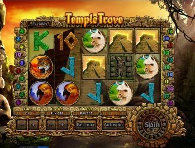 three pyramid symbols triggers bonus feature.