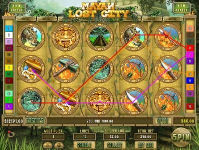 Mission 2 Game featuring the Video Slots Mayan Lost City with a maximum payout of Jackpot