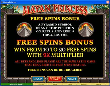 Luxury featuring the Video Slots Mayan Princess with a maximum payout of $20,000