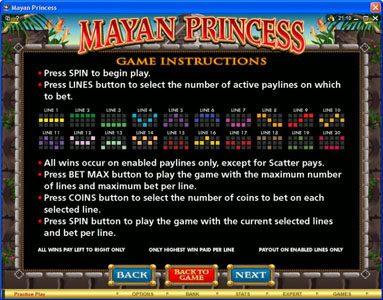 Play slots at Zodiac: Zodiac featuring the Video Slots Mayan Princess with a maximum payout of $20,000