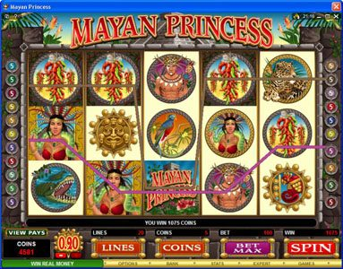 EypoBet featuring the Video Slots Mayan Princess with a maximum payout of $20,000