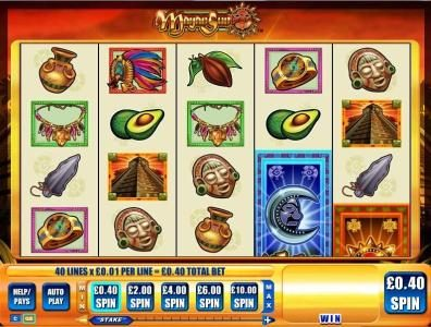 Vegas Winner featuring the Video Slots Mayan Sun with a maximum payout of $5,000
