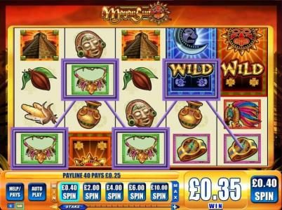 Zinger Spins featuring the Video Slots Mayan Sun with a maximum payout of $5,000