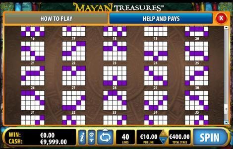 Vegas Winner featuring the Video Slots Mayan Treasures with a maximum payout of $50,000