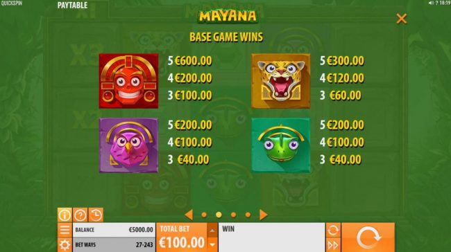Next Casino featuring the Video Slots Mayana with a maximum payout of $145,800