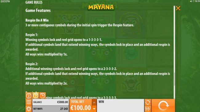 Coral featuring the Video Slots Mayana with a maximum payout of $145,800