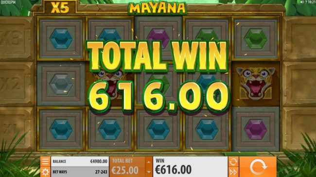 Respin feature pays out 616 coins