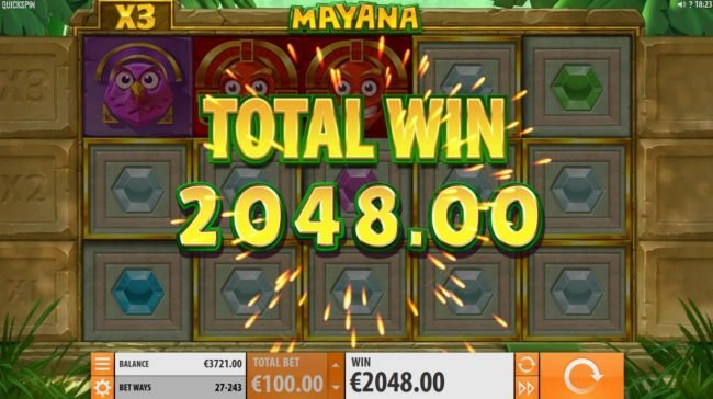 Pamper featuring the Video Slots Mayana with a maximum payout of $145,800