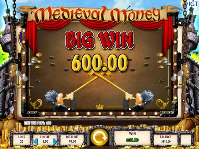 Stan James featuring the Video Slots Medieval Money with a maximum payout of $250,000