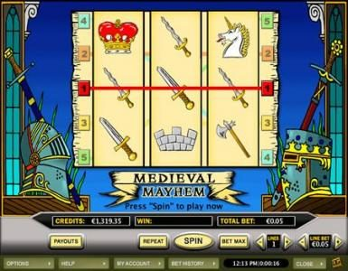 Celtic featuring the Video Slots Medieval Mayhem with a maximum payout of $5,000