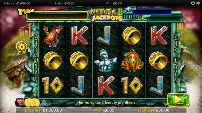 EypoBet featuring the Video Slots Medusa II Jackpots with a maximum payout of $25,000
