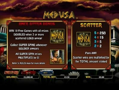 Orientxpress featuring the Video Slots Medusa with a maximum payout of $10,000