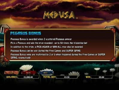 888 Casino featuring the Video Slots Medusa with a maximum payout of $10,000