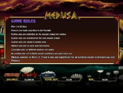 Medusa :: general game rules