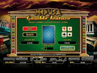 Medusa :: gamble feature game board