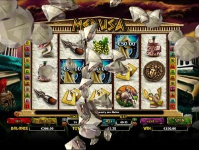 All Irish featuring the Video Slots Medusa with a maximum payout of $10,000