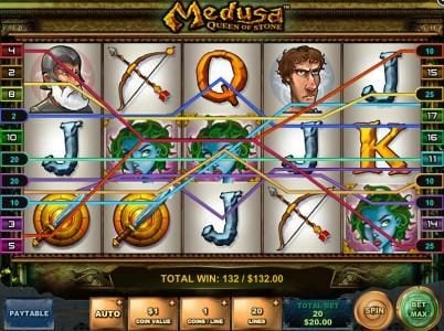 Casumo featuring the Video Slots Medusa - Queen of Stone with a maximum payout of $12,500