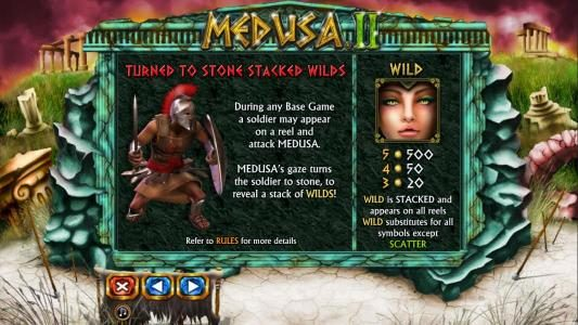 Vegas Winner featuring the Video Slots Medusa II with a maximum payout of $25,000