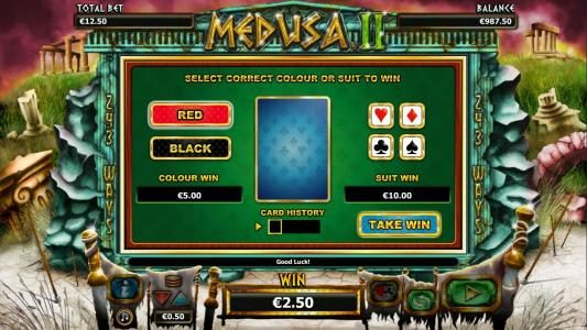 TS featuring the Video Slots Medusa II with a maximum payout of $25,000