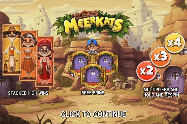 Play slots at Yoyo: Yoyo featuring the Video Slots Meet the Meerkats with a maximum payout of $30,000